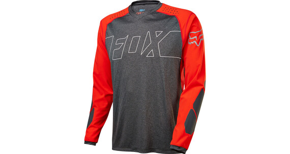 Fox Explore LS Jersey Men black/red